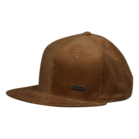 Corduroy Metallic Emblem Hat by LET'S BE IRIE - Brown Snapback - Let's Be Irie™