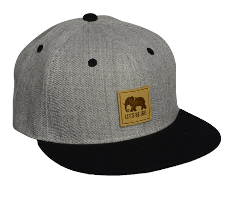 LET'S BE IRIE Snapback - Heather Gray and Black - Let's Be Irie™