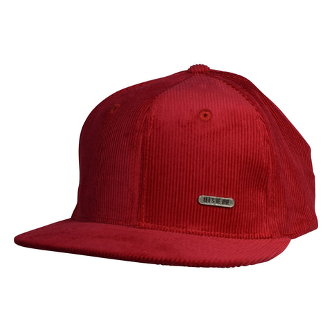 Corduroy Snapback by LET'S BE IRIE - Red - Let's Be Irie™