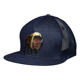 Brown Buffalo Trucker Hat by LET'S BE IRIE - Blue Denim - Let's Be Irie™