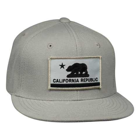 California Republic Flag Snapback by LET'S BE IRIE - Gray - Let's Be Irie™