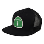 California Highway 1 Trucker Hat by LET'S BE IRIE - Black - Let's Be Irie™