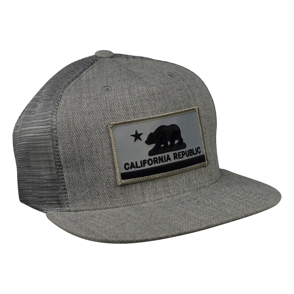 b0642bcb3238a ... spain california republic flag trucker hat by lets be irie heather gray  lets be irie e7f17