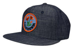 California Poppy Snapback Hat by LET'S BE IRIE - Washed Denim - Let's Be Irie™