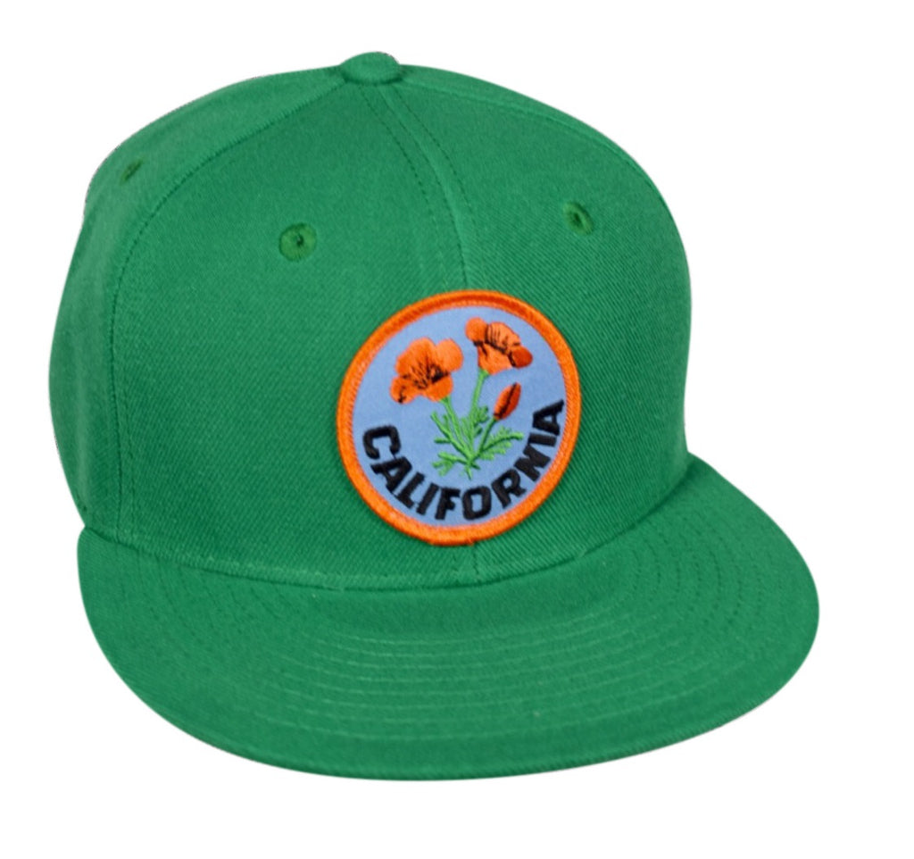 California Poppy Snapback Hat by LET S BE IRIE - Kelly Green - Let s Be ... 8b6b29d54f4