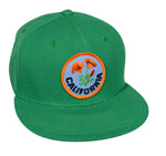 California Poppy Snapback Hat by LET'S BE IRIE - Kelly Green - Let's Be Irie™