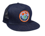 California Poppy Trucker Hat by LET'S BE IRIE - Blue Denim - Let's Be Irie™