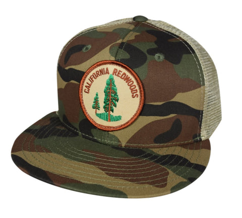 California Redwoods Trucker Hat by LET'S BE IRIE - Camo and Khaki - Let's Be Irie™