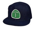 California Highway 1 Snapback Hat by LET'S BE IRIE - Blue Denim - Let's Be Irie™