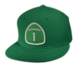 California Highway 1 Snapback Hat by LET'S BE IRIE - Kelly Green - Let's Be Irie™