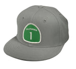 California Highway 1 Snapback Hat by LET'S BE IRIE - Gray - Let's Be Irie™