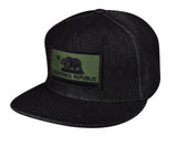 California Republic Flag Snapback by LET'S BE IRIE - Black Denim - Let's Be Irie™