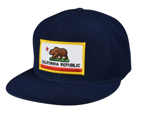 California Republic Flag Snapback by LET'S BE IRIE - Navy Blue - Let's Be Irie™