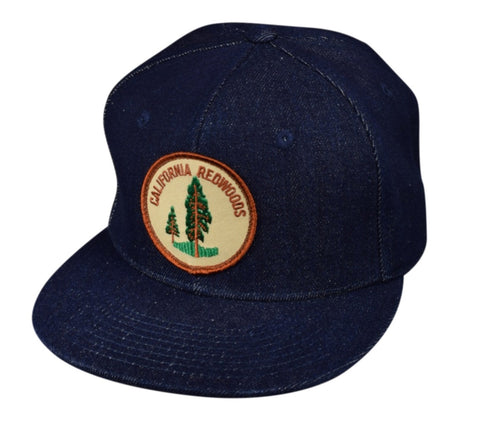 California Redwoods Snapback Hat by LET'S BE IRIE - Blue Denim - Let's Be Irie™
