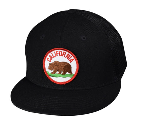 California Bear Trucker Hat by LET'S BE IRIE - Black - Let's Be Irie™