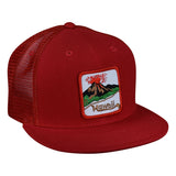 Hawaii Volcano Trucker Hat by LET'S BE IRIE - Red Snapback - Let's Be Irie™