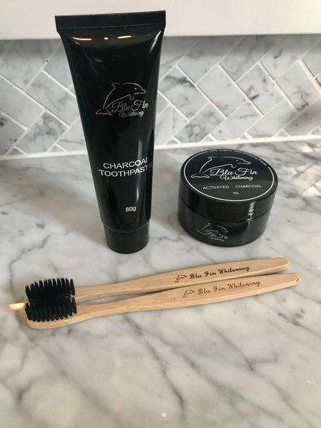 Bamboo Toothbrush, Charcoal Toothpaste, & Charcoal Scrub in Los Angeles County, CA