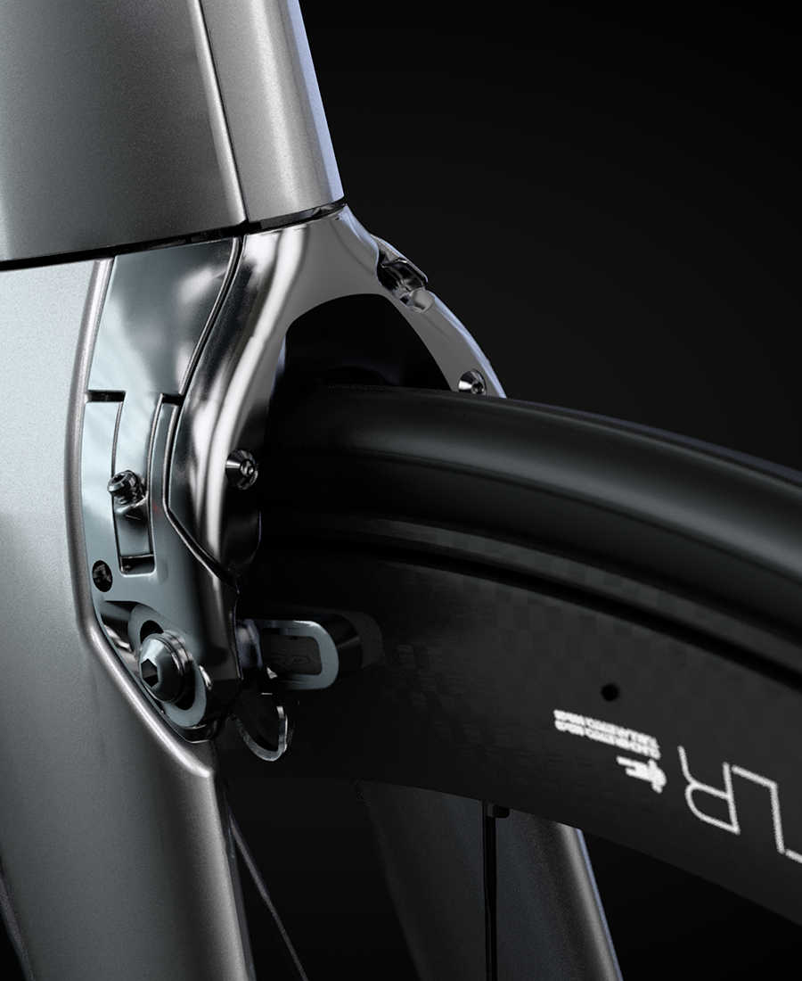 integrated madone brakes