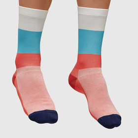 MAAP Fat Stripe Sock Red/Blue/White - Cycles Galleria Melbourne
