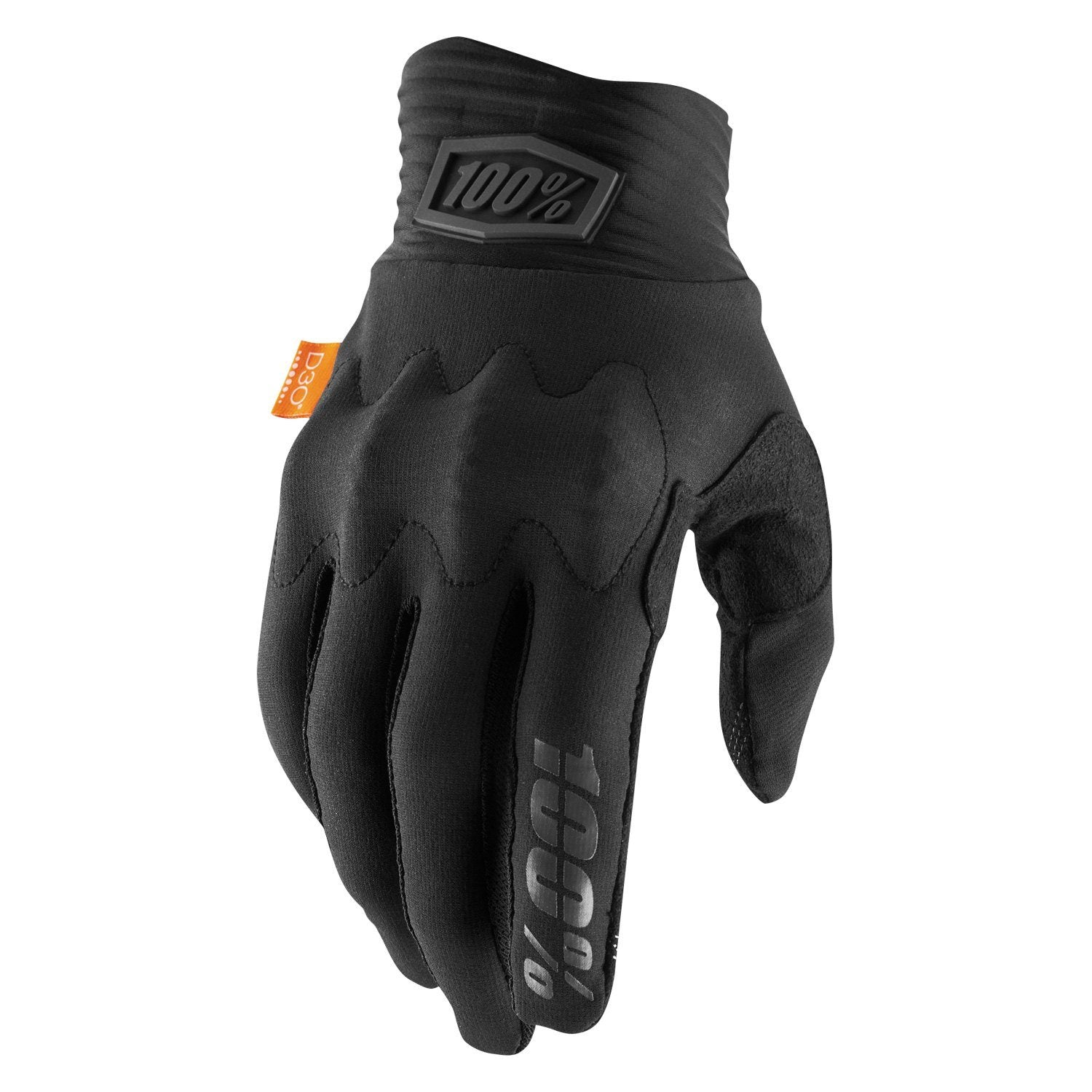 100% Cognito D30 MTB Gloves Black