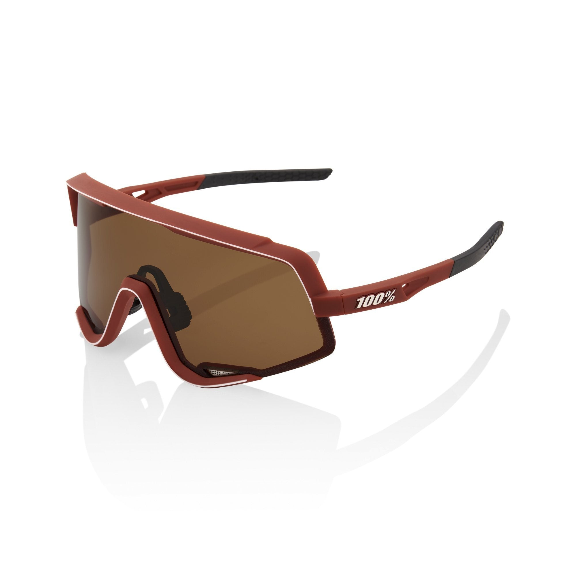 100% Glendale Sunglasses - Soft Tact Bordeaux with Bronze Lens