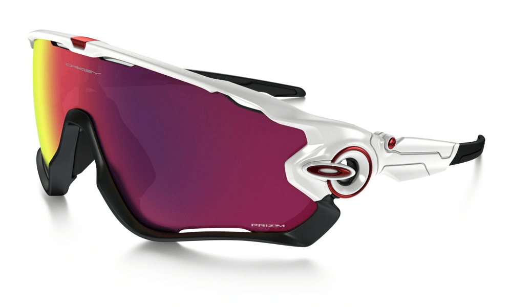 Oakley  Jawbreaker Polished White w/ Prizm Road Lens - Cycles Galleria Melbourne