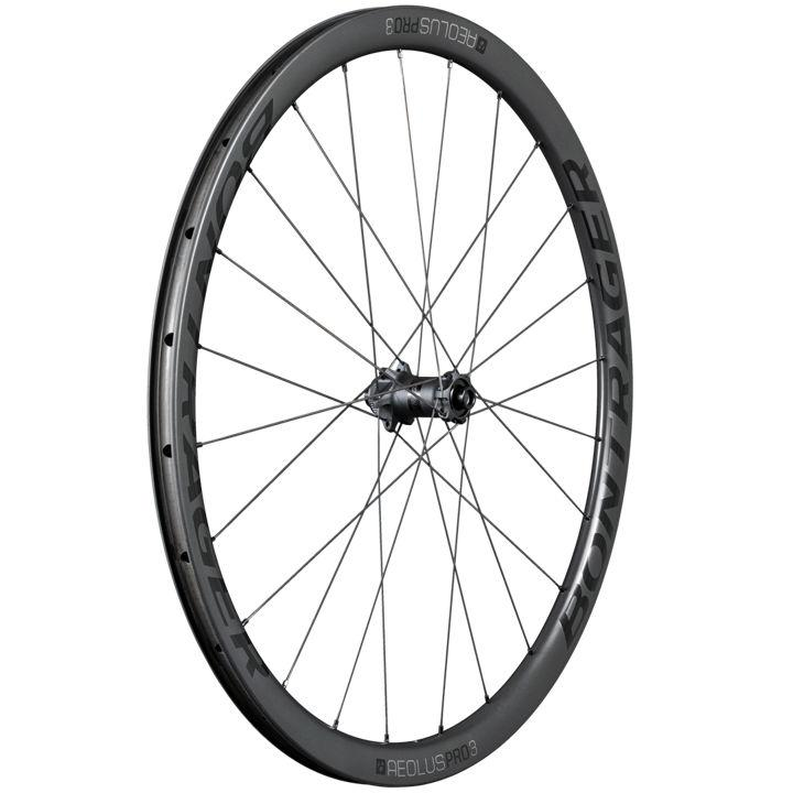 Bontrager Aeolus Pro 3 Disc TLR 12mm Axle Wheel Black/Grey