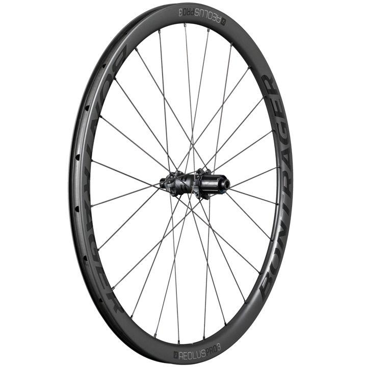 Bontrager Aeolus Pro 3 TLR Disc Road Rear Wheel 142 Black/Grey