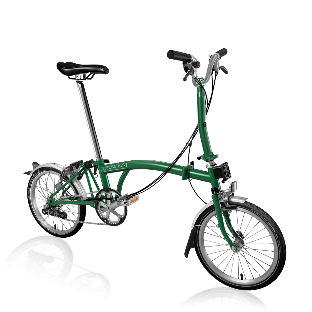 Brompton MY20 M6L Racing Green Folding Bike - Cycles Galleria Melbourne