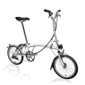 Brompton MY20 H6L White - Cycles Galleria Melbourne