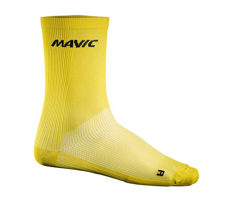 Mavic Cosmic Socks High - Yellow - Cycles Galleria Melbourne