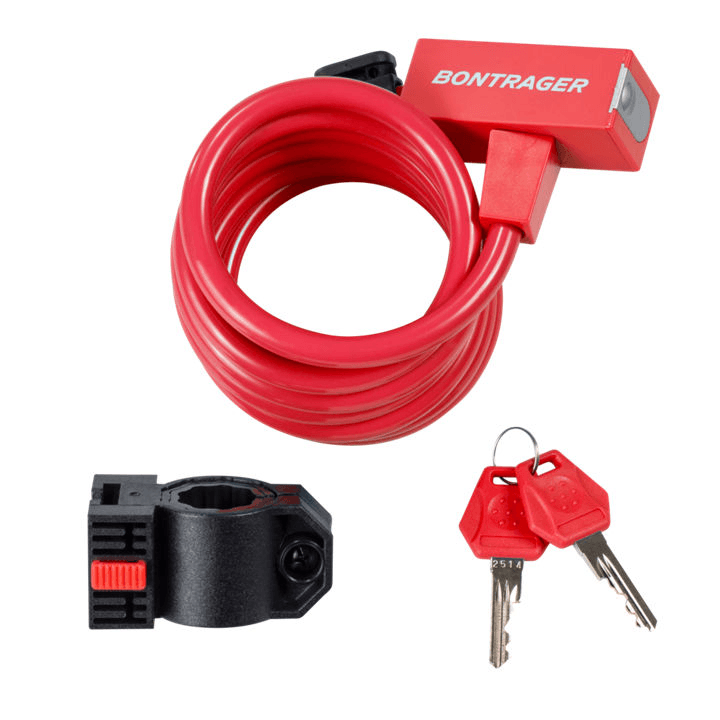 Bontrager Lock Cable Key 10 mm x 72 in Red - Cycles Galleria Melbourne