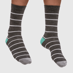 MAAP Stripe Merino Sock Charcoal - Cycles Galleria Melbourne