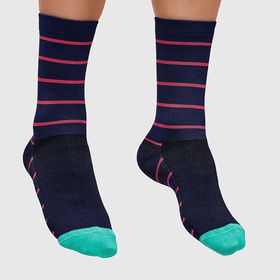MAAP Breton Sock Navy/Coral - Cycles Galleria Melbourne