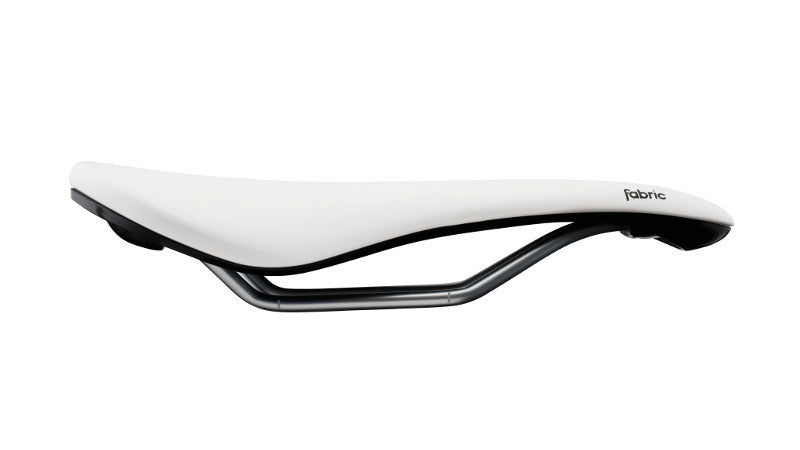 Fabric Scoop Elite Saddle Shallow - White/Black - Cycles Galleria Melbourne