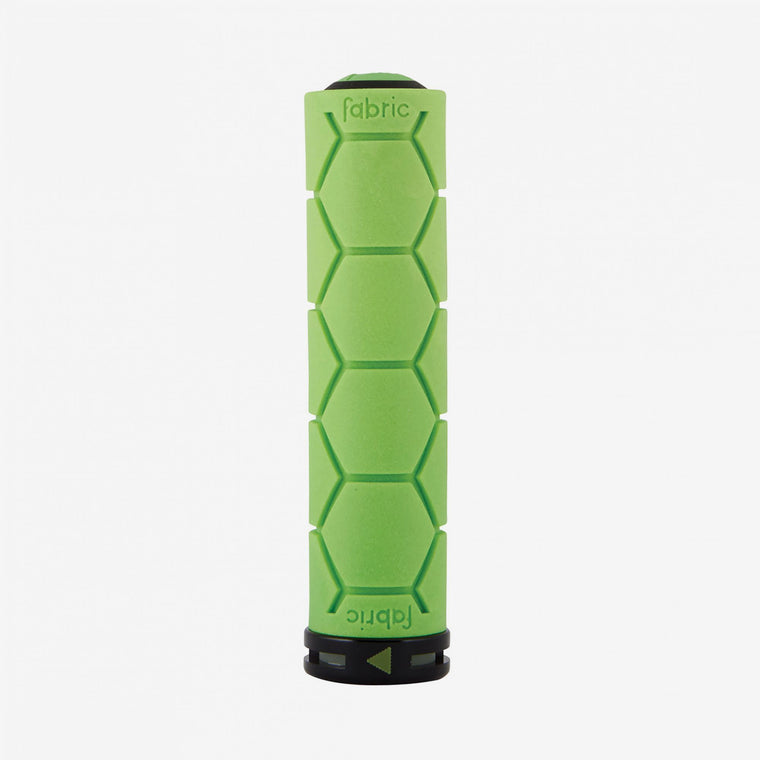 Fabric Green Lock On Silicone Grips