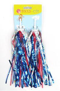 Grip Streamers, BIKES UP!, SILVER RED & BLUE