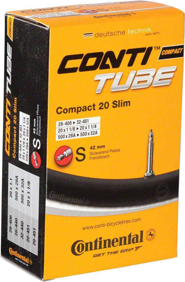 Continental Tube Compact 20 Slim 20X1 1/8-1/4 Presta 42mm