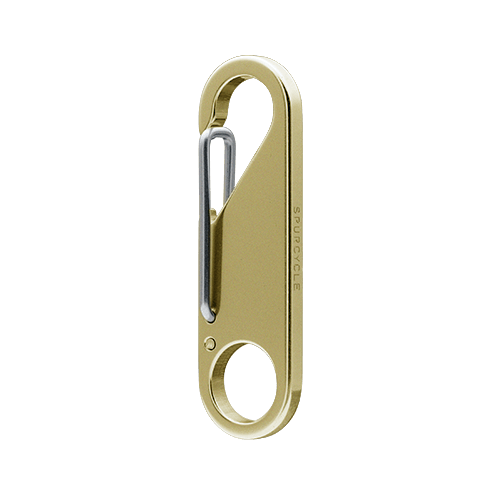 Spurcycle Key Clip - Brass - Cycles Galleria Melbourne