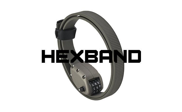 Ottolock Hexband Cinch Lock - Grey 18 inch (45cm)