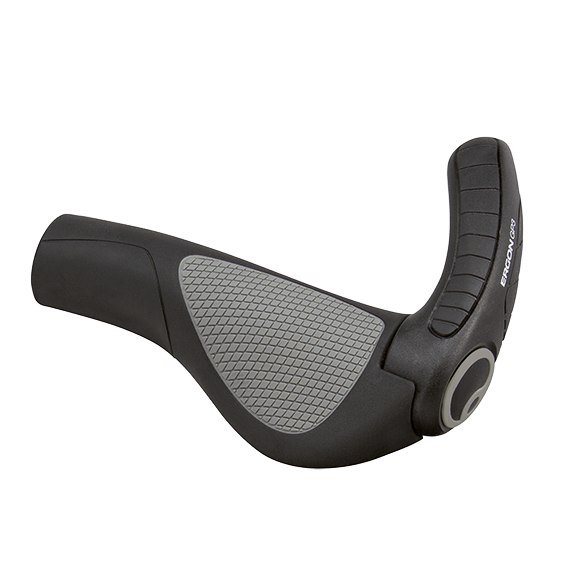 Ergon GP-3 Grip Small - Black / Grey - Cycles Galleria Melbourne