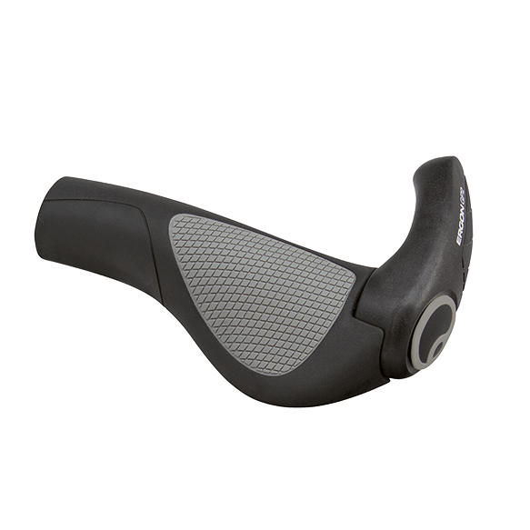 Ergon GP-2 Grip Large - Black/Grey - Cycles Galleria
