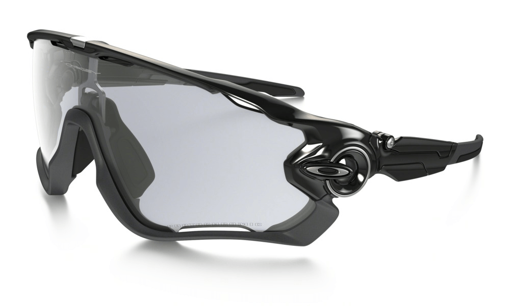 Oakley  Jawbreaker Polished Black w/Clear Photchromic  Lens - Cycles Galleria Melbourne