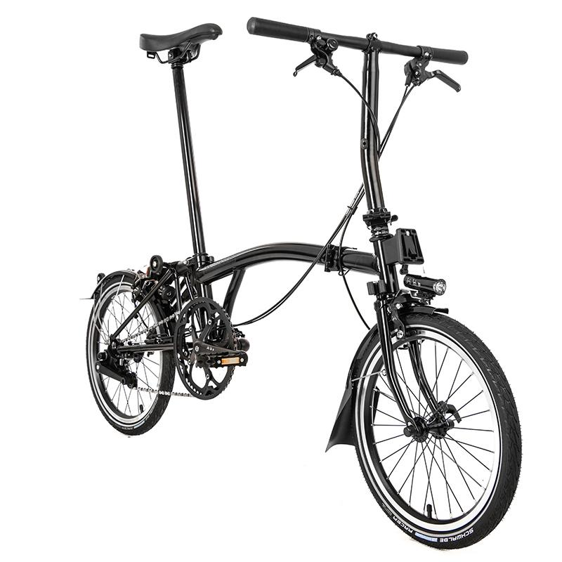 Brompton MY20 Black Edition S6L Gloss Black - Cycles Galleria Melbourne