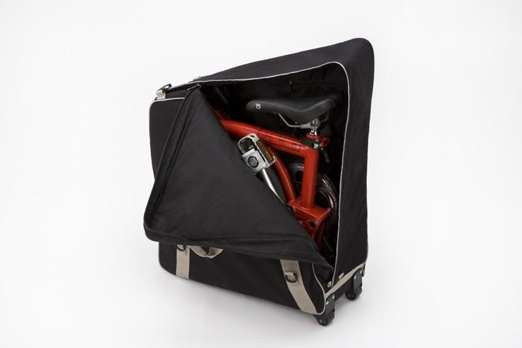Brompton B Bag With Castors and Strap Black