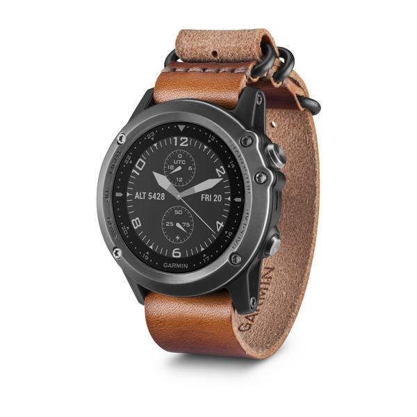 Garmin fenix 3 Sapphire Gray with Leather Strap Watch