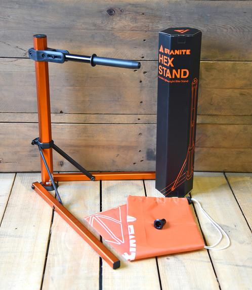 Granite Design Hex Stand incl. Shimano M20 Adaptor & Carry Bag - Cycles Galleria Melbourne