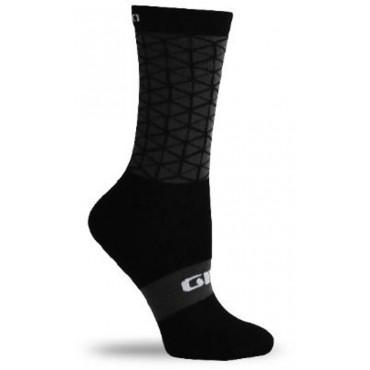 "GIRO COMP HIGH RISE - 6"" Cuff Sock - Black Boxfish - Cycles Galleria Melbourne"