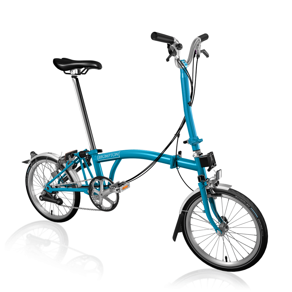 Brompton H6L Lagoon Blue Folding Bike