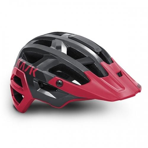 Kask Rex - Dark Grey/Cherry